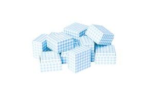 GIFT HARD BOX SMALL VICHY BLUE